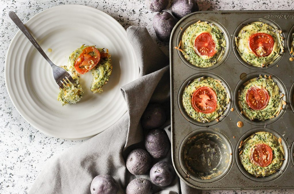 Potato and Vegetable Mini Quiches