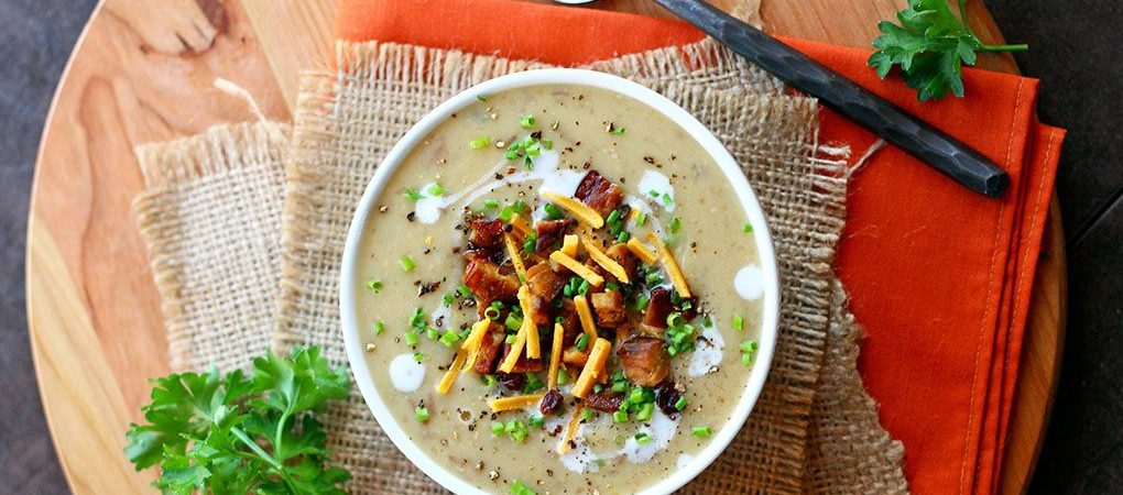 Vegan Baked Potato Soup