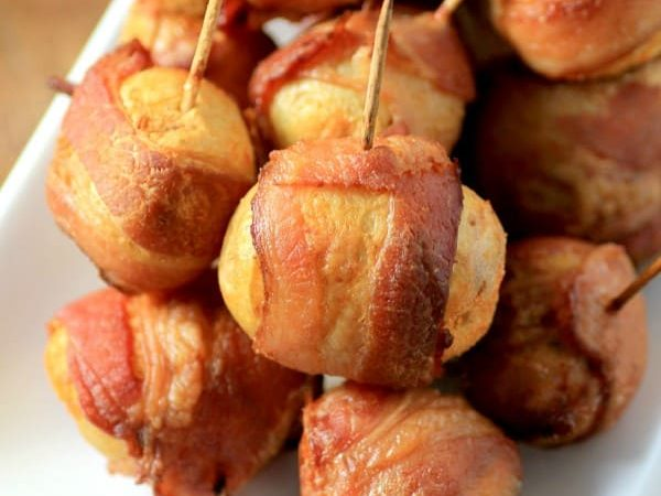 Spicy Bacon-Wrapped Potatoes