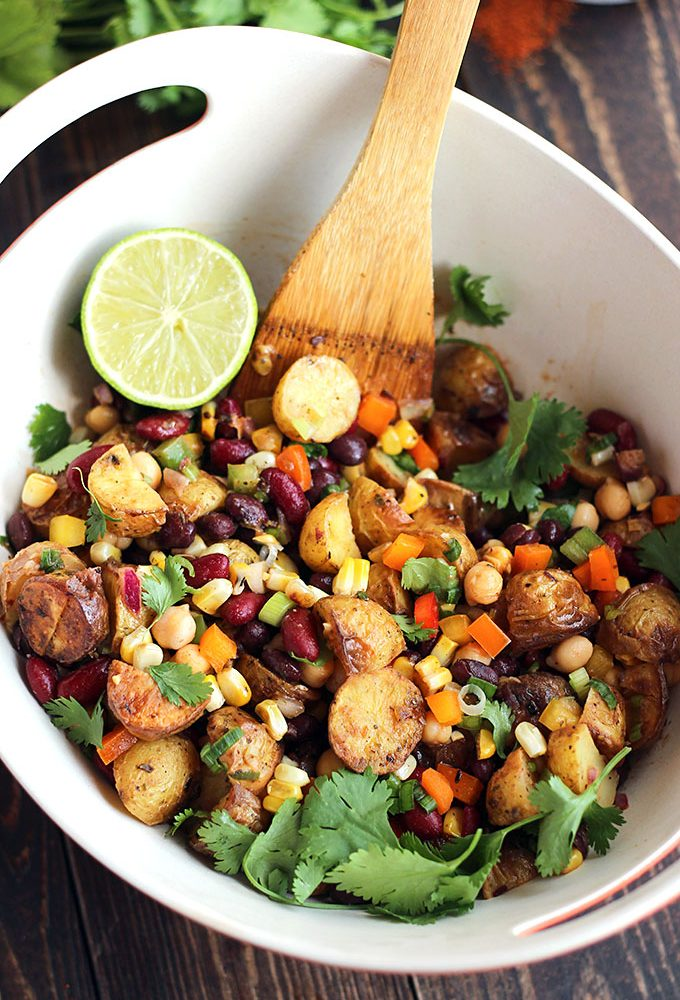 Tex-Mex Three Bean Potato Salad