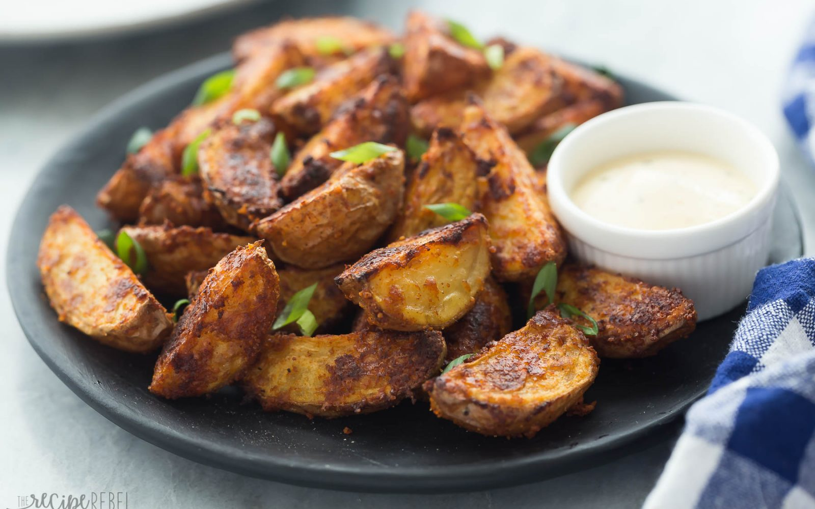 Chipotle Parmesan Potato Wedges