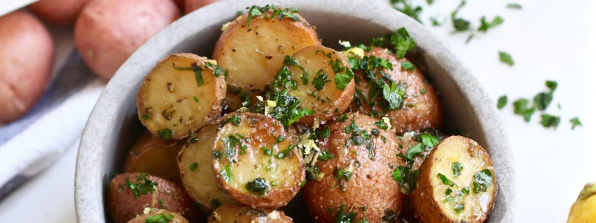 Garlic Potatoes with Parsley