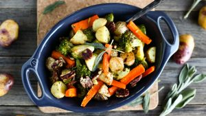 Sage and Garlic Roasted Vegetables - The Little Potato Company