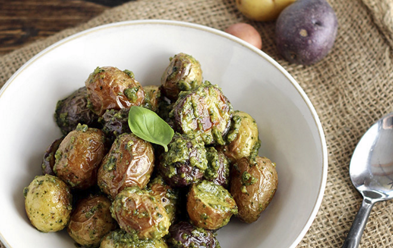 Vegan Pesto Potatoes