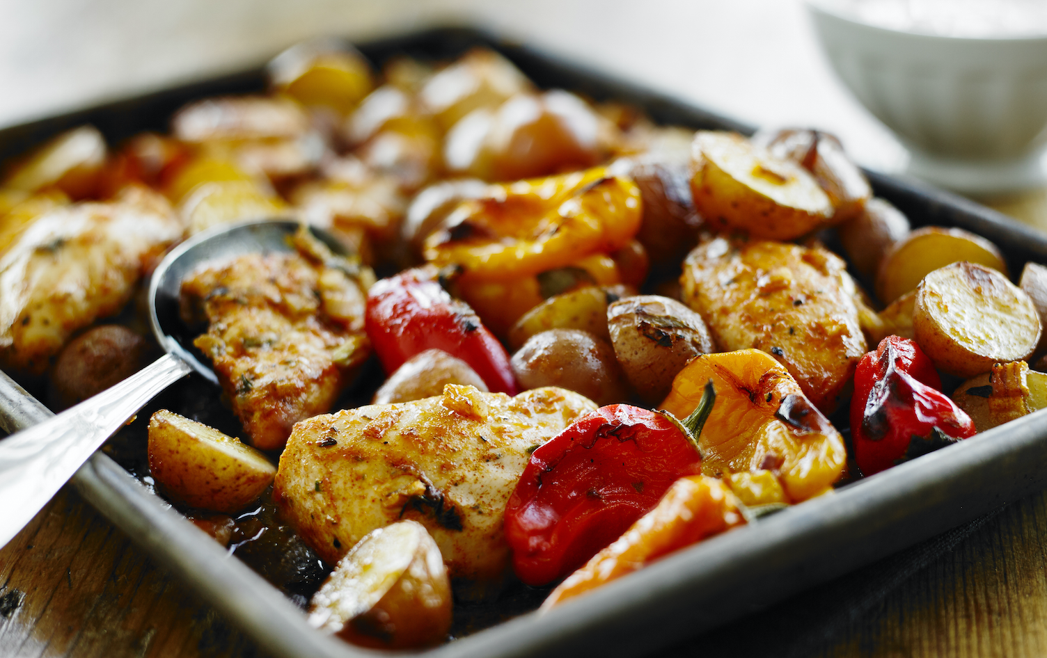 One-Pan Roasted Jerk Chicken and Potatoes