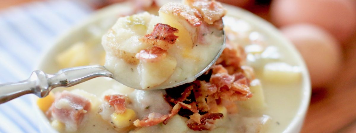Slow Cooker Ham and Potato Corn Chowder