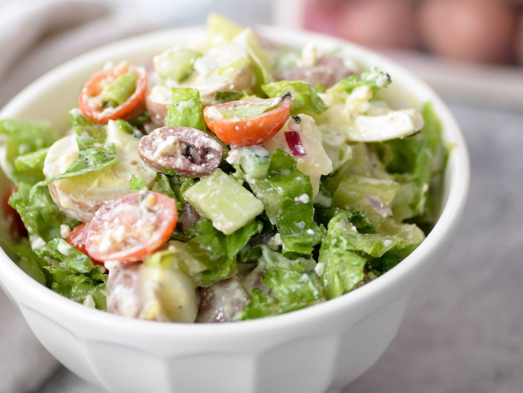 Tarpon Springs Greek Salad with Potato Salad - The Little Potato Company