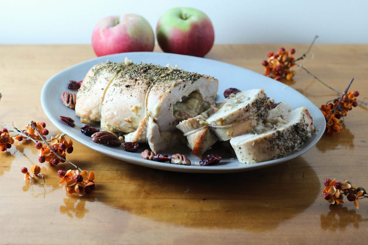 Turkey Pinwheels with Potatoes, Cheddar, and Apples