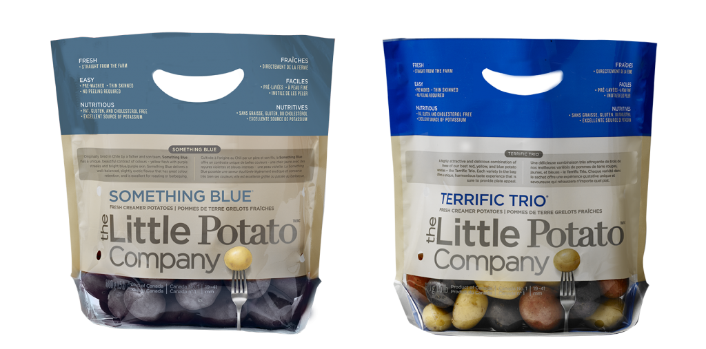 Blue potato products - Something Blue or Terrific Trio by The Little Potato Company